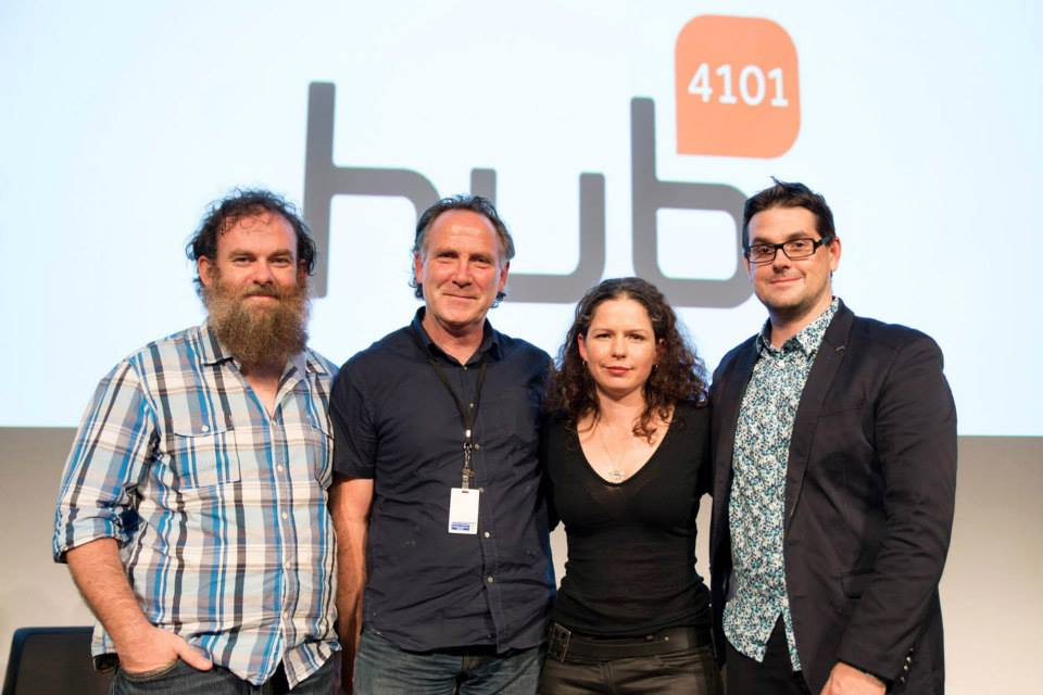 Daniel Flood, Kevin Wilson, Skye Doherty and Matt Liddy at the Hub4101 event